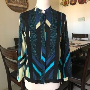 Collective Concepts  S  Patterned Blouse NWOT